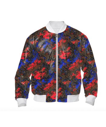 Blue-Red-Dance-Bomber-Jacket