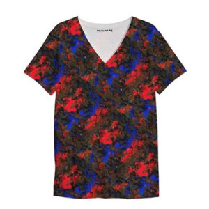 Blue Red Dance V Neck